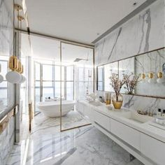 The 5 Best Interior Designers of The World! - The 5 Best Interior Designers of The World! Decor your home with DelightFULL´s mid-century moder - Bathroom Interior Design, Modern Interior Design, Interior Architecture, Marble Interior, Interior Ideas, Gold Interior, White House Interior, Staircase Architecture, Interior Blogs