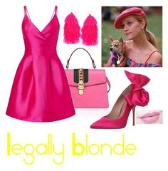 """""""Legally Blonde"""" by kaupka ❤ liked on Polyvore featuring Gucci, Miss Selfridge, Humble Chic, Kurt Geiger and Anastasia Beverly Hills"""