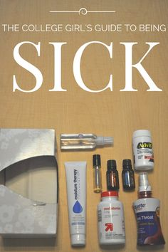 BEST guide with tips on how to handle being sick in college on top of managing everything else.The BEST guide with tips on how to handle being sick in college on top of managing everything else. College Life Hacks, College Years, My College, College Girls, Freshman Year, College Survival Guide, College Guide, Survival Kits, University Tips