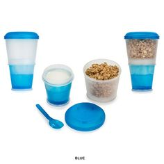 2-Pack: Cereal-to-Go Containers - Assorted Colors