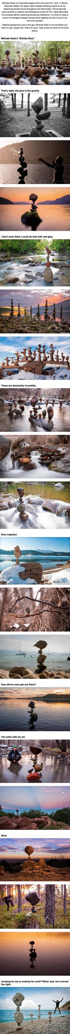This Guy Is So Good At Balancing Stones, It's Hard To Believe His Work Is Real.