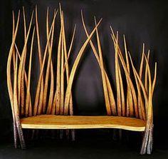 Pondlife Bench in Cedar of Lebanon by PhilipKoomen