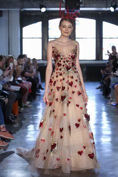 See our favorite colored wedding dresses from the best bridal designers—from red wedding dresses to pink wedding dresses to black wedding dresses! V Neck Wedding Dress, Wedding Dresses Photos, Wedding Dress Trends, Colored Wedding Dresses, Wedding Ideas, Wedding Art, Bridal Gowns, Wedding Gowns, Bridal Jumpsuit