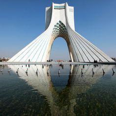 architectureland:  azadi tower in tehran, iran (by mooon2)