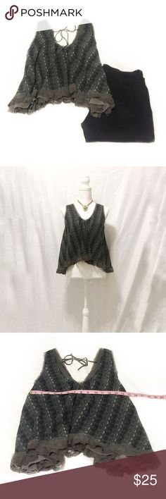 Free People | Gray Lace Ruffle Blouse | Size: S Free People Gray Lace Ruffle Tank Blouse   • Size: Small • Great Condition • Fits Loosely  • No Wear or Damage  • Pet/Smoke Free Home • 100% Polyester • See Photos for Measurements   Let me know if you have any questions and happy shopping! Free People Tops Blouses