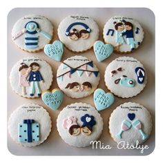 Love cookies for anniversary