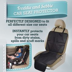 Freddie and Sebbie Car Seat Protector, Non Toxic Child or Baby Auto Seat Protector Mat, Your Perfect Protection For Car Seats - http://www.amazon.com/Freddie-Sebbie-Car-Seat-Protector/dp/B00CJD5Y4I/