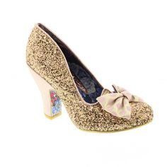 Irregular Choice Nick of Time - Gold - Heels from Bells Shoes UK