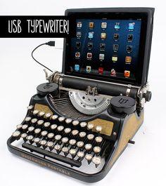 Vintage-moderno: USB typewriter! - Chata de Galocha! | Lu Ferreira