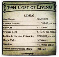 .I remember when the old people complain about the prices, I bet they would flip if they were still here today