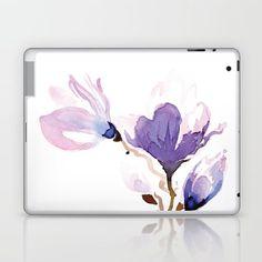 Magnolias at night Laptop & iPad Skin