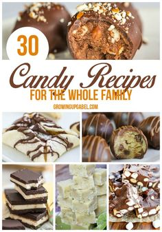 Need new homemade candy recipe ideas? From old fashioned taffy to two ingredient truffles, these 30 candy recipes are easy to make! Great for Christmas, or any other occasion!