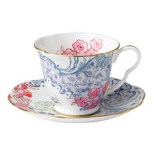 Wedgwood Butterfly Bloom Teaware Blue And Pink Teacup & Saucer