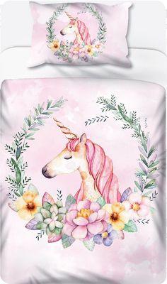 Unicorn Crest on Pink - Duvet Set – LCV Designs & Decor