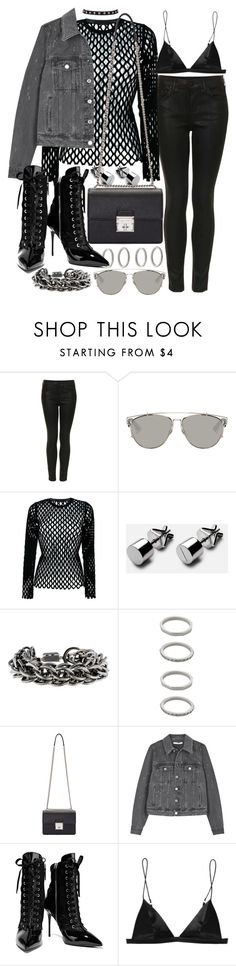 """Untitled #20667"" by florencia95 ❤ liked on Polyvore featuring Topshop, Christian Dior, Alexander Wang, Burberry, Forever 21, Dolce&Gabbana, Givenchy, Giuseppe Zanotti and T By Alexander Wang"