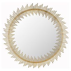 Rhonda Round Mirror, Antiqued Gold $219.00
