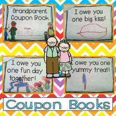 Cute Grandparent's Day Ideas!  Grandparents Mini Unit $ and a FREE writing…