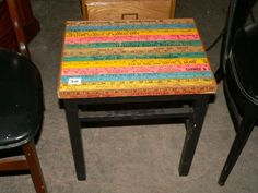 Yard Stick Side Table