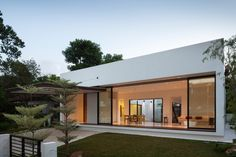 The 'Courtyard House' located in Mandai, Singapore - Designed by Atelier M+A