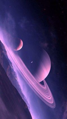 a pretty pink & purple space style here