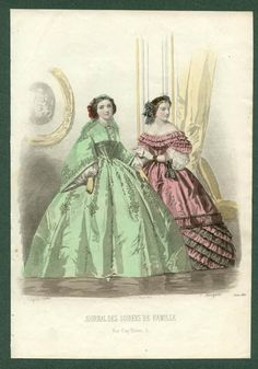 This green dress may also be an option. Like the other I just pinned. 1860's fashion plate.