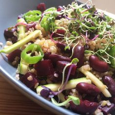 Bulgur salad with redbeans, zucchini and beet Lime Salad Recipes, Healthy Salads, Healthy Recipes, Fruit Salad With Marshmallows, Bulgur Salad, Best Pasta Salad, Red Beans, Vegetable Salad, Beets