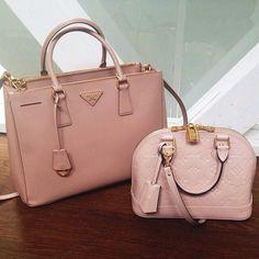 Pretty pink Prada and Louis Vuitton