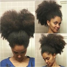 The big afro puff. #OfficiallyNatural #NaturalHair #AfroPuff