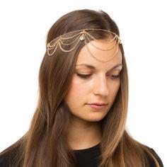 Would look so cute with a head full of curl-wand curls! Boho Headpiece, Boho Headband, Headbands, Wand Curls, Curl Wand, Shoe Dazzle, Hair Jewelry, Women's Accessories, Head Honcho