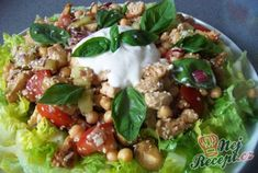 ,,Vrabci v hrsti,, se šťouchanými brambůrky Quiche Muffins, Grains, Salads, Good Food, Food And Drink, Vegan, Vegetables, Desserts, Mozzarella
