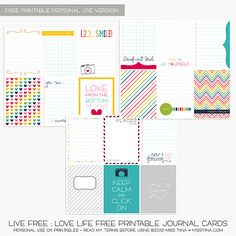 More Live Free : Love Life -- free printable download #ProjectLife