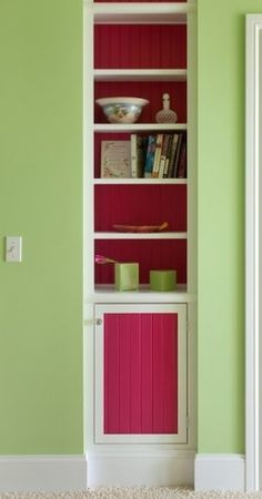 Use A Framed Picture And Hidden Hinges To Hide A Storage