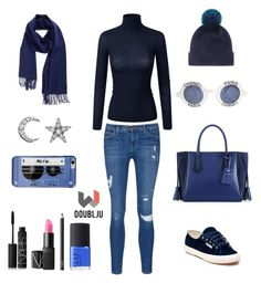 """Doubjlu Women's casual style"" by doublju-company ❤ liked on Polyvore featuring Current/Elliott, Superga, Longchamp, Nordstrom, Helen Moore, Chanel, Kate Spade, Khai Khai and NARS Cosmetics"