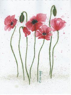 #mohn #poppy #rot #aquarell #flowers #blumen