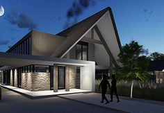 Villa B - interior | architecture | totaal concepten | interieur | tuinplan - Marco van Veldhuizen Gate Wall Design, Shed Design, Roof Design, Garden Architecture, Modern Architecture, Villas, City Farmhouse, Small Modern Home, Modern Cottage