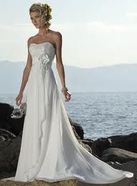 The only beach wedding dress I have been able to picture myself in