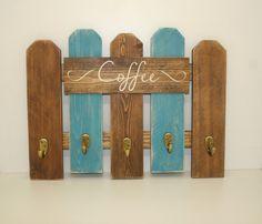Coffee Mug Rack- Western Rustic Kitchen Decor-  Reclaimed Fence Wood- Coffee Sign Decor - Primitive Home Decor- Office Decor by DakotaCountry on Etsy https://www.etsy.com/listing/275526350/coffee-mug-rack-western-rustic-kitchen