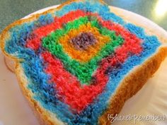 make your piece of bread into a piece of art before eating. great idea for kids