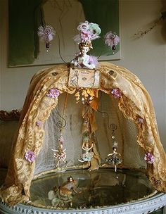 Sandra Evertson half doll.  Reminds me of the little girls room in one of my favorite movies, What Dreams May Come.