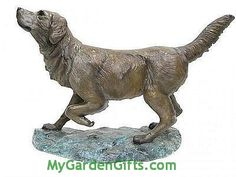 Faithful Labrador Retriever Sculpture - Our large Retriever captures the joy and love of this friendly family dog.
