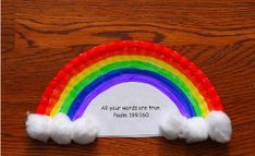 Noah's Rainbow Paper Plate Crafts