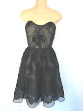 Jim Hjelm Style 5420 Black Lace Short Bridesmaid Formal Prom Dress Size 14 New!