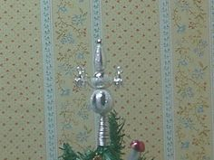 Nostalgie in 1:12: DIY - Tutorial to make Christmas tree toppers in 1/12 miniature scale for dollhouse