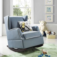 We're loving @walmart's new, modern nursery designs, especially this Baby Relax Hudson Wingback Rocker!