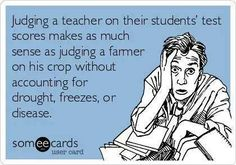 maybe parents should be judged for their kids' test scores. If the student isn't getting enough help, support, and time to study at home, then maybe we should call in DHS and judge the parents rather than firing teachers or docking their pay. HMMMMM...interesting concept