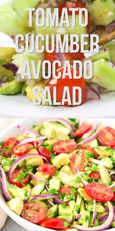 Avocado Salad Recipes, Healthy Diet Recipes, Easy Salads, Healthy Salad Recipes, Easy Healthy Dinners, Easy Dinner Recipes, Dinner Healthy, Health Recipes, Healthy Foods
