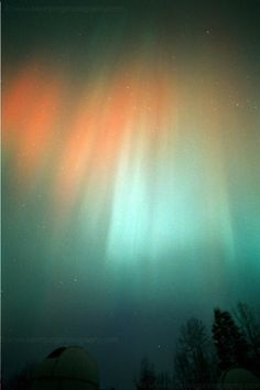 Aurora Borealis viewed from the James C. Veen Observatory near Lowell, Michigan