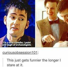 Seriously can't stop laughing. #riversong #david tennant #doctor who #matt smith