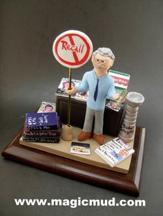Birthday gift for a businessman Personalized for Dad by www.magicmud.com 1 800 231 9814 creating a custom made gift figurine for Dad based on the things he likes to do! ...incorporating his work, sports, family, hobbies, food, drink, electronic gadgets, etc. $225 #dad #men #guys #christmas #birthday #anniversary #custom #personalized #xmas #present #award #ChristmasGift #BirthdayGift #husband #boyfriend #uncle