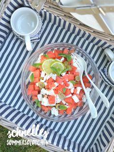 Wassermelonensalat Cobb Salad, Meal Prep, Salsa, Feta, Mexican, Cooking, Ethnic Recipes, Healthy Lifestyle, Low Carb